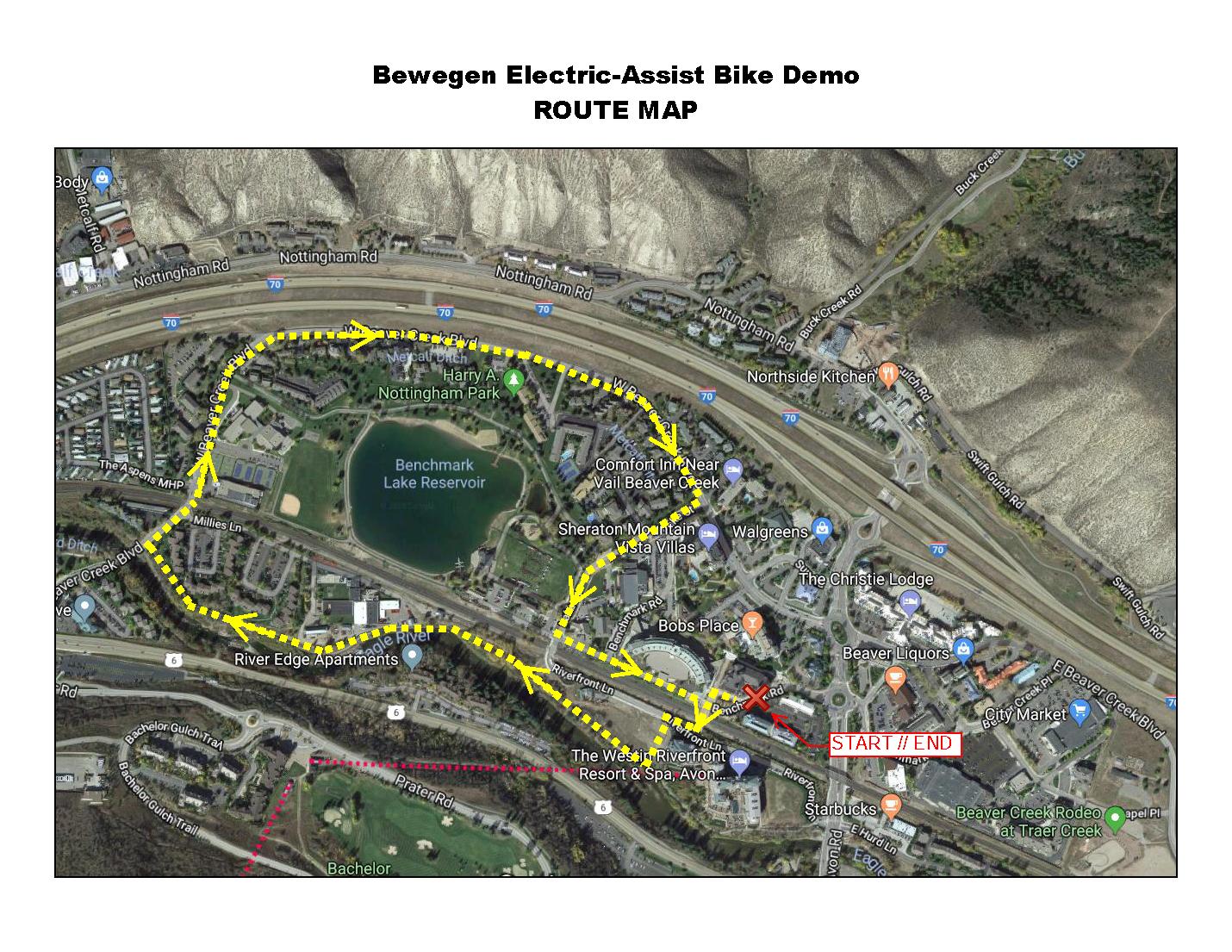 Bewegen EBike Demo Route