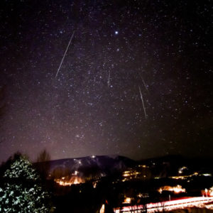 Colorado Geminid Meteor Shower Stars Sky