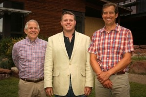 Pictured left to right: Mike Imperi - Head of VMS, Dr. Jason Glass - Superintendent of Eagle County Schools and Markian Feduschak - President of Walking Mountains Science Center