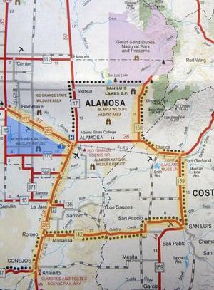 Sandhill Cranes Invitational and Migration Location Map