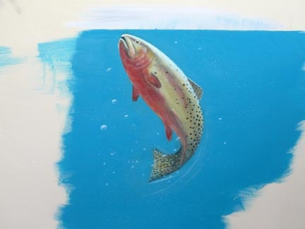 Rainbow Trout Mural at Walking Mountains Science Center