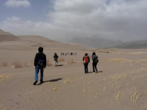 Trekking at the Great Sand Dunes National Park