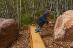 Natural Outdoor Playground at Walking Mountains Science Center in Avon Colorado