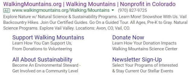 Non Profit Google Ad Grant PPC Campaign