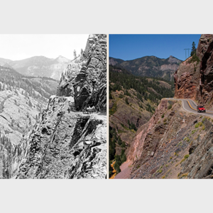 Red Mountain Pass Colorado Then and Now