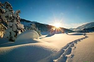 mountains + snow
