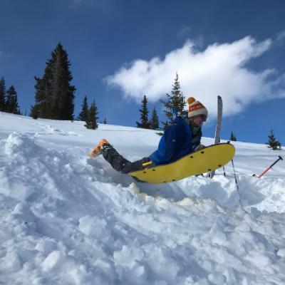 sledding snow colorado